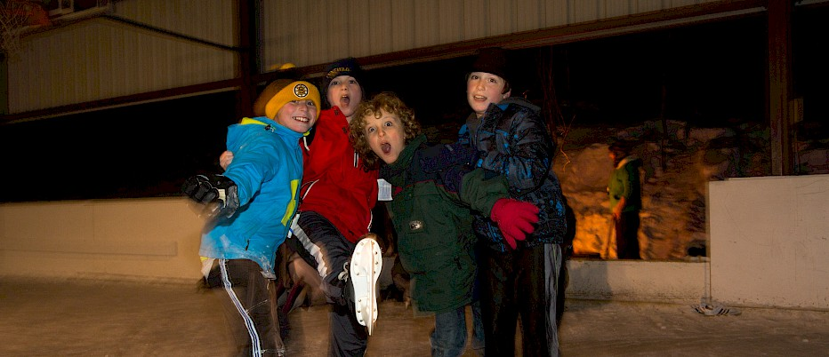 Fun with friends at the Skating Rink.